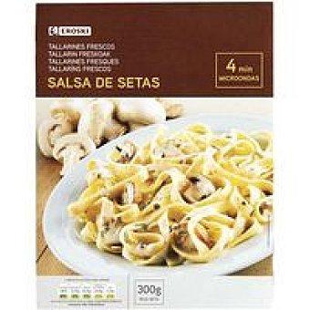 Eroski Tallarines en salsa de setas Bandeja 300 g
