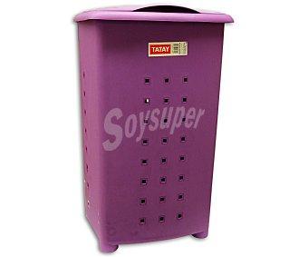 Tatay Cesto 'pongotodo' de plástico color morado ciruela, 60 litros 1 Unidad
