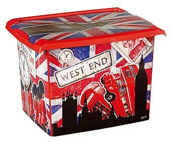 PENGO Caja de ordenación con tapa de 20,5 litros, modelo Fashion Nueva York 1 Unidad