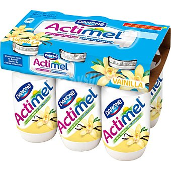 Actimel Danone Yogur líquido vainilla Pack 6 unidades 100 ml