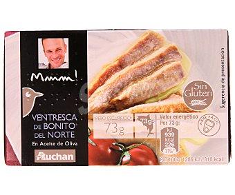 Mmm Auchan Ventresca de Bonito en Aceite de Oliva Lata 73 Gramos Peso Escurrido