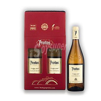 """Protos Lote 104: Estuche de vino D.O. """"rueda"""" blanco verdejo Pack 2x75 cl"""