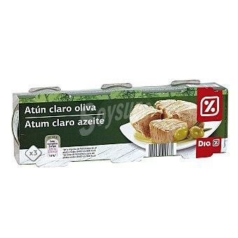 DIA Atún claro en aceite de oliva Pack 3 latas 52 gr
