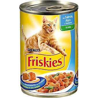 Friskies Purina Albóndigas de pescado con atún salmón y verdura para gato lata 400 g Lata 400 g
