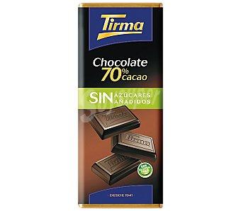 Tirma Chocolate negro 70% cacao sin azucar 75 g