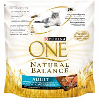 One Purina Alimento natural de pescado para gato 1,5 kg