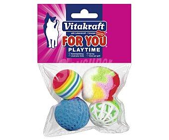 Vitakraft Bolas surtidas (juguetes para gatos) 4 unidades
