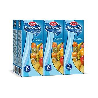 Juver Disfruta Néctar de 10 frutas con 10 vitaminas sin azúcar pack 6 envases 200 ml 6 envases de 200 ml