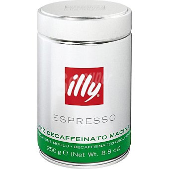 ILLY Café espresso descafeinado molido Lata 250 g