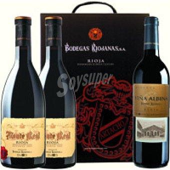 Monte Real Vino Tinto Reserva Rioja Pack 2x75 cl + Viña Albina
