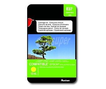 Auchan Cartucho Amarillo T0554 (E 37) - Compatible con impresoras: epson Stylus Photo R240/ R245 / RX420 / RX425 / RX520