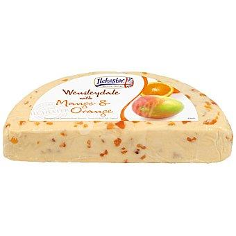 ILCHESTER queso wensleydale con mango y naranja peso aproximado pieza  1,5 kg