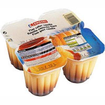 Eroski Flan de vainilla Pack 4x105 g