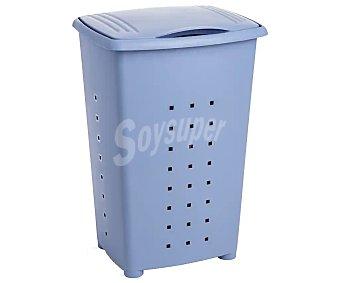 TATAY Millenium Cesto pongotodo de plástico con tapa, color azul, tatay 60 litros