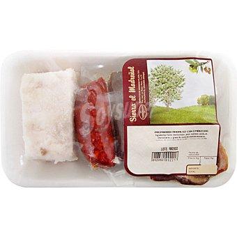SIERRA EL MADROÑAL Preparado andaluz contiene chorizo, morcilla, codillo y tocino ibérico Bandeja 500 g