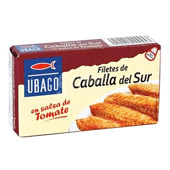 Ubago Filetes de caballa del sur en salsa de tomate Lata 65 gr