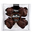 Muffins de cacao con pepitas de chocolate 4 ud 4 ud Dulcesol
