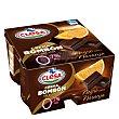 Crema bombón Chocolate negro y naranja 0% pack de 4x125 g Clesa
