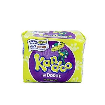 Kandoo Dodot Toallitas infantiles aroma melon pack 2 envases 60 unidades