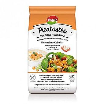 Esgir Picatostes con cebolla y pimentón sin gluten envase 75 g