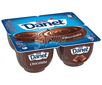 Danet Danone Natillas de chocolate 4 unidades de 125 g