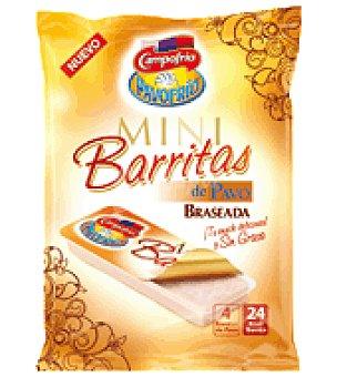 Campofrío Mini barrita de pavo braseada Pack de 4x30 g