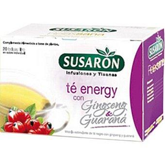Susaron Infusión y tisana Té Energy con gingseng & guaraná envase 20 bolsitas