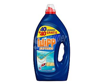 Wipp Express Detergente gel Limpio & Liso 80 ds. 4 l. 4 l