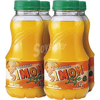Simon Life Refresco naranja Pack de 4x200 ml