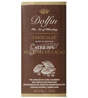 Dolfin Chocolate negro 70% de cacao 70 g