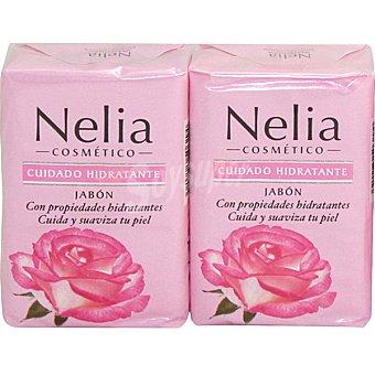 Nelia pastilla de jabón hidratante original envase 2 unidades