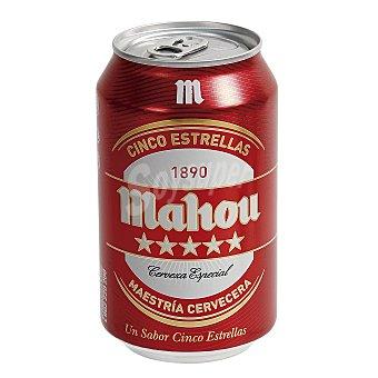 Mahou Cerveza Cinco Estrellas Lata 33 cl