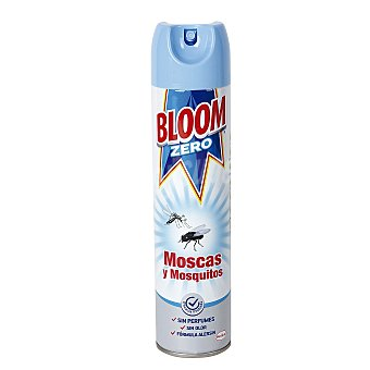 Bloom Max Insecticida volador Sensitive concentrado moscas y mosquitos sin olor Spray 400 ml