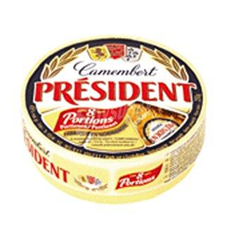 PRESIDENT queso camembert 8 porciones caja 250 g