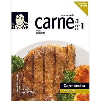 Carmencita Sazonador especial para parrilladas de carne 4 raciones Envase 7 g