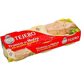 Tejero Tronco de melva en aceite de oliva neto escurrido pack 3 latas 56 g