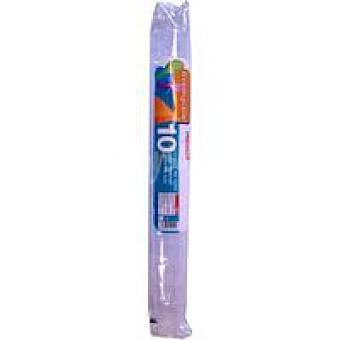 Eroski Vaso de tubo Pack 10 unid