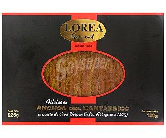 Lorea Filetes de anchoa del Cantábrico en aceite de oliva arbequina 225 gramos
