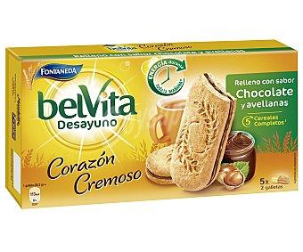 Belvita Galletas con relleno con sabor chocolate y avellanas  Estuche 253 g