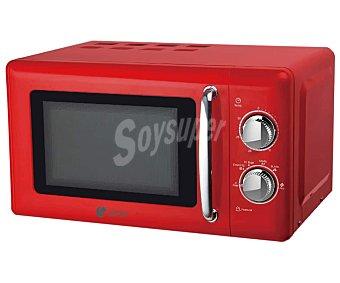 Artrom Microondas MM720RML, color rojo, capacidad , potencia: 700W 20L