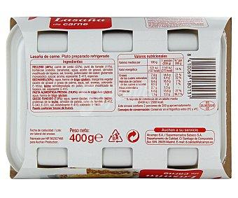 Auchan Lasaña con carne 400 gramos