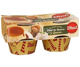 DHUL Flan de huevo y queso Pack 4x110 g