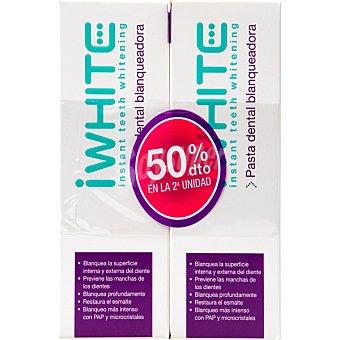 iWhite Pasta dental blanqueadora 2 tubos 75 ml