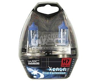 WRC Bombillas de xenón para automóvil, luz azulada, modelo H7, Potencia: 55W 2 Unidades
