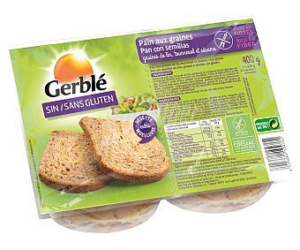 Gerblé Pan de semillas sin gluten Paquete 400 g