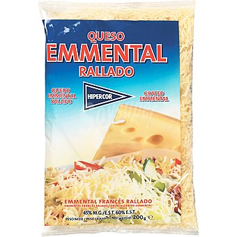 HIPERCOR queso rallado emmental bolsa 200 g