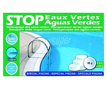 SPOOL Recuperador de aguas verdes en formato pastillas de 20 gramos, proporcionando agua cristalina en pocas horas 120 gramos