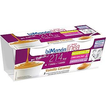 BIMANAN LINEA Mi Comida Crema de vainilla caramelo sustitutiva 2 unidades estuche 420 g 2 unidades