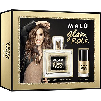 MALU Glam Rock eau de toilette natural femenina + laca de uñas spray 100 ml