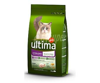 Ultima Affinity Gatos esterilizados especial control bolas de pelo para gato con pavo y cebada bolsa 1,5 kg Bolsa 1,5 kg